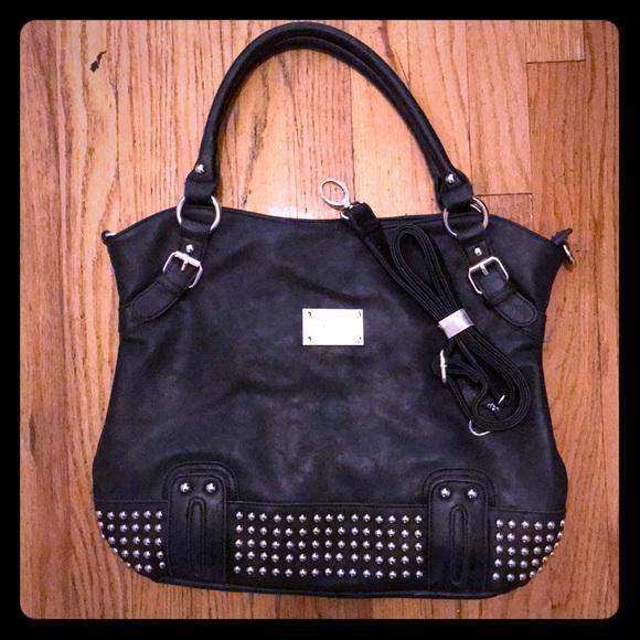 Dolce   Gabbana Handbags - Black studded Dolce   Gabbana leather handbag c799b2cc9e615